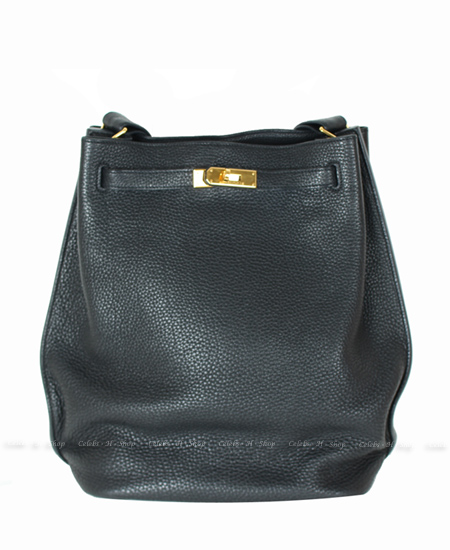 HERMES Black Sokelly 26 Silver