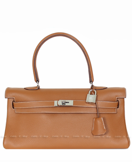 HERMES Gold Shoulder Kelly 42 Silver