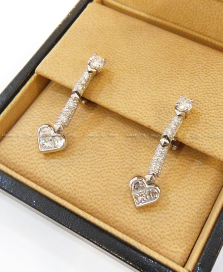 BVLGARI 18K WG Heart Diamond Ring Earring