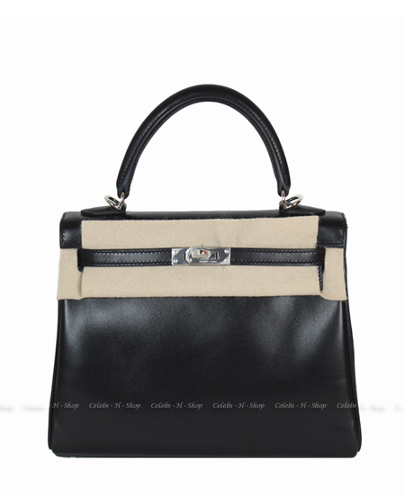 HERMES Black Box Calf Kelly 25