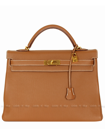 HERMES Gold Kelly 40 Gold