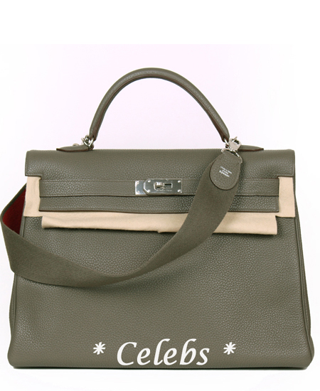HERMES Etain Amazon Kelly 40 Silver